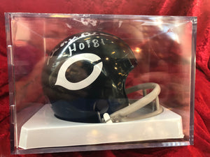 George Blanda Bears Certified Authentic Autographed Football Mini Helmet