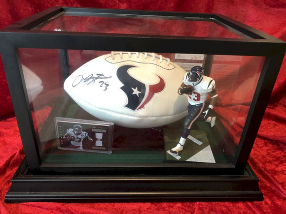 Arian Foster Texans Certified Authentic Autographed Football Shadowbox
