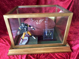 Ben Roethlisberger Steelers Certified Authentic Autographed Football Shadowbox
