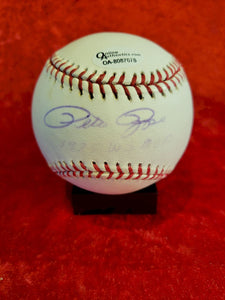 Pete Rose Certified Authentic Autographed Baseball