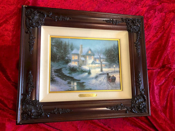 Thomas Kinkade - Moonlit Sleigh Ride - Limited Edition Print
