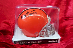 Ozzie Newsome Browns Certified Authentic Autographed Football Mini Helmet