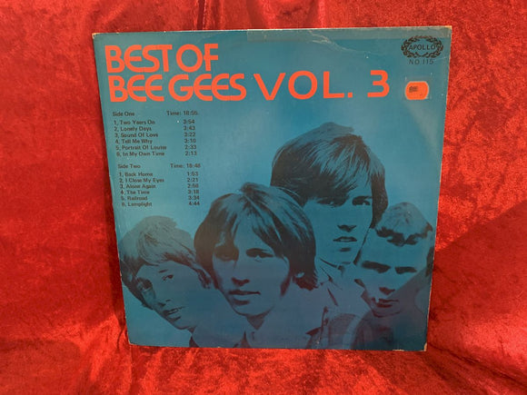 Bee Gees Best of Vol. 3 33 LP Album