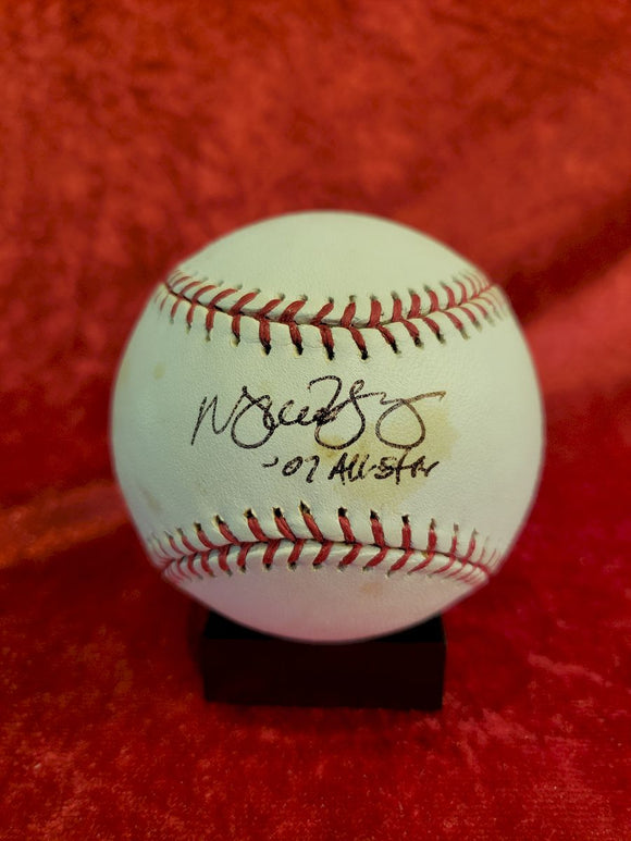 Michael Young Guaranteed Authentic Autographed Baseball
