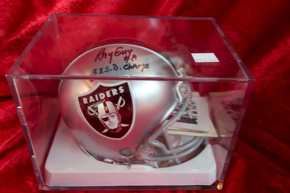 Ray Guy Raiders Autographed Certified Authentic Football Mini Helmet