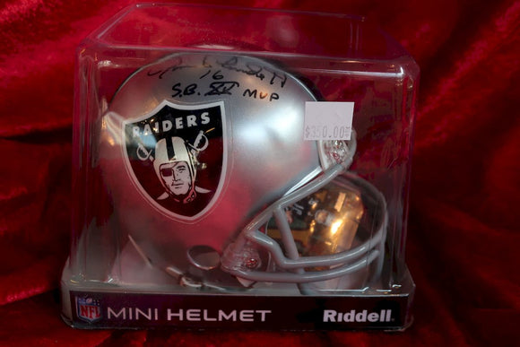 Jim Plunkett Raiders Autographed Certified Authentic Football Mini Helmet