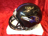 Joe Flacco Ravens Certified Authentic Autographed Mini-helmet Shadowbox