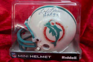 Larry Little Dolphins Autographed  Football Mini Helmet
