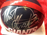 Michael Strahan Giants Guaranteed Authentic Autographed Mini-helmet Shadowbox