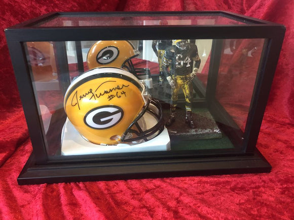 Jerry Kramer Packers Probably Authentic Autographed Mini-helmet Shadowbox