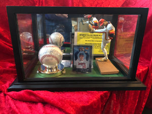 Nolan Ryan Hall of Fame 1999 Certified Authentic Autorgraphed Baseball Shadowbox