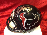 Andre Johnson Texans Certified Authentic Autographed Mini-helmet Shadowbox
