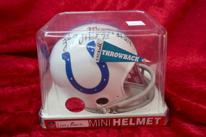 Lenny Moore Colts Autographed Certified Authentic Football Mini Helmet