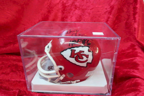 Willie Lanier Chiefs Autographed Certified Authentic Football Mini Helmet