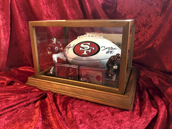 Steve Young & Jerry Rice 49ers Autographed Football Shadowbox