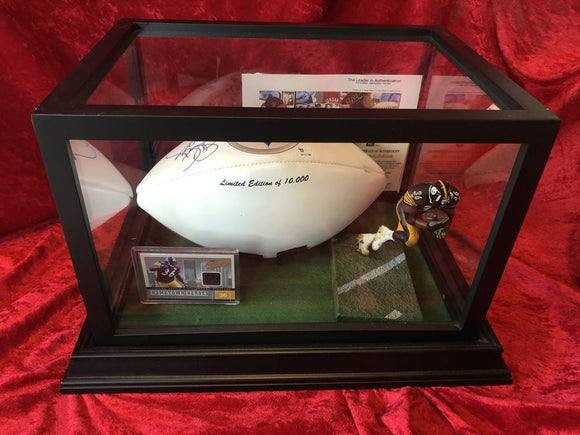 Jerome Bettis Steelers Certified Authentic Autographed Football Shadowbox
