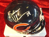Brian Urlacher Bears Certified Authentic Autographed Mini-helmet Shadowbox