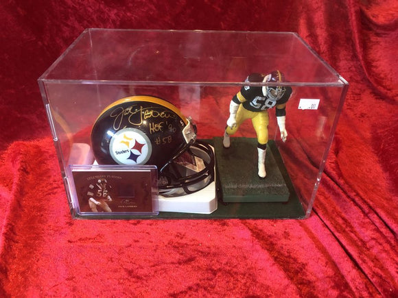 Jack Lambert Steelers Certified Authentic Autographed Mini-helmet Shadowbox