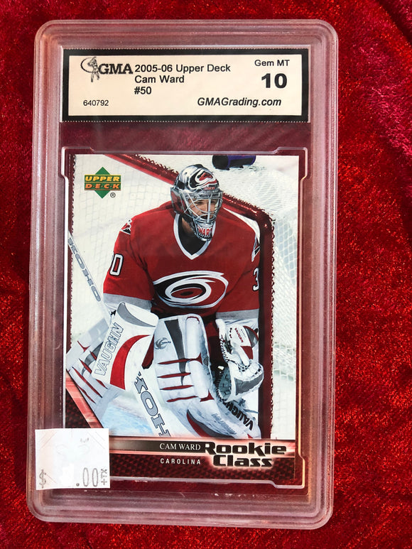 Cam Ward 2005-06 UD Rookie Class #50 Hockey Trading Card