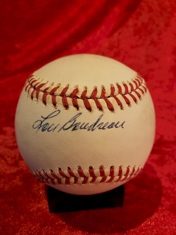 Lou Boudreau Cleveland Indians Guaranteed Authentic Autographed Baseball