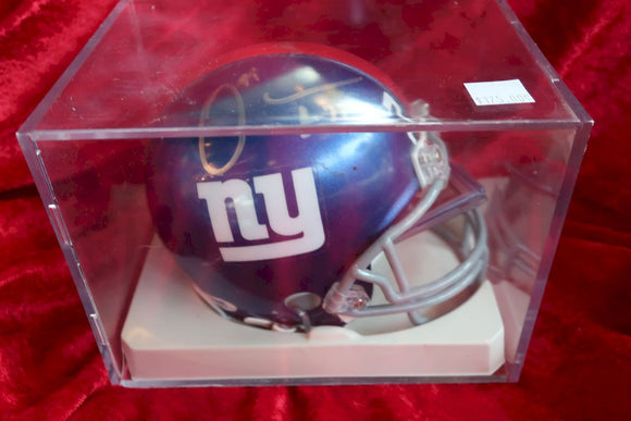 Osi Umenyiora Giants Autographed Certified Authentic Football Mini Helmet