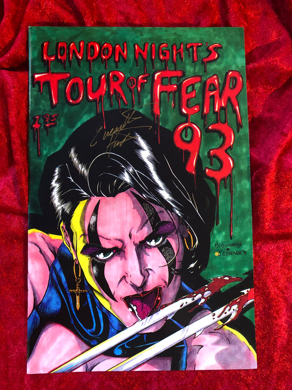 London Night- Horror- Tour of Fear- 2003- Autographed Comic Book