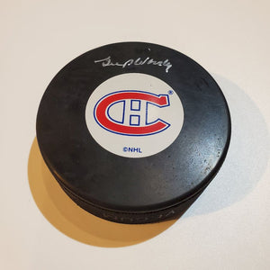 Gump Worsley Certified Authentic Autographed Hockey Puck