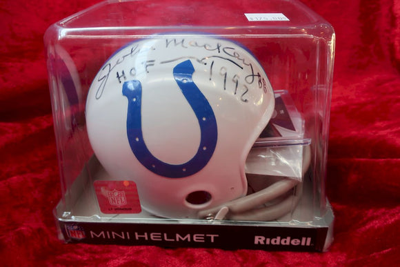 John Mackey Colts Autographed Certified Authentic Football Mini Helmet
