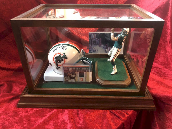 Dan Marino Dolphins Guaranteed Authentic Autographed Football Shadowbox