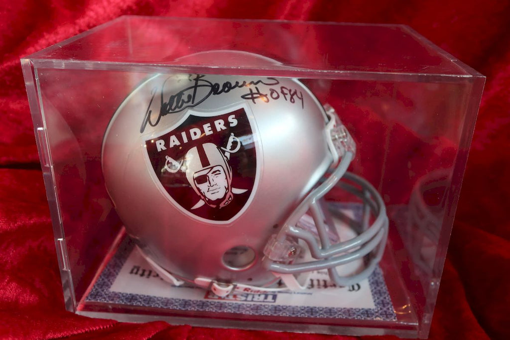 Willie Brown Raiders Autographed Certified Authentic Football Mini Helmet