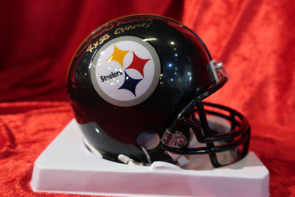 Chuck Noll Steelers Autographed  Football Mini Helmet