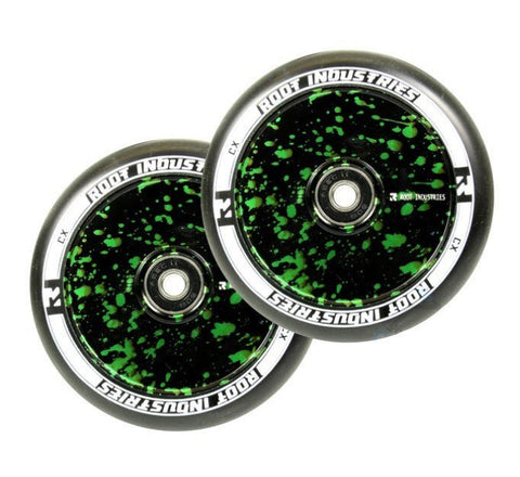 Root Industries Air 110mm Wheels Black / Green Splatter