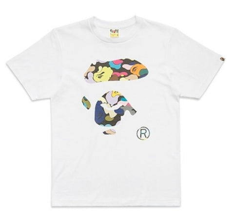 DS Bathing Ape multi Camo Face Tee Sz XXL