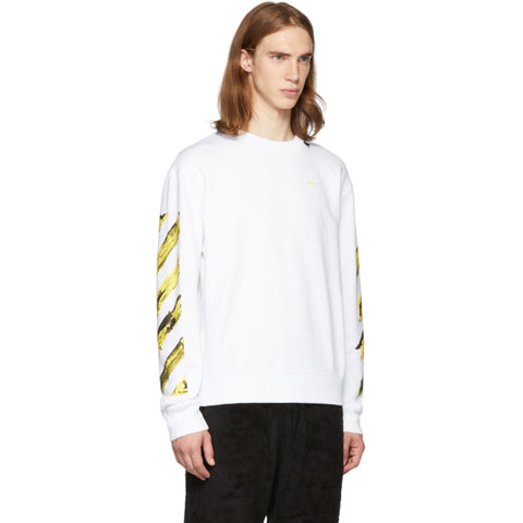 DS OFF-WHITE SSENSE Exclusive White & Yellow Painted Arrows Sz XL