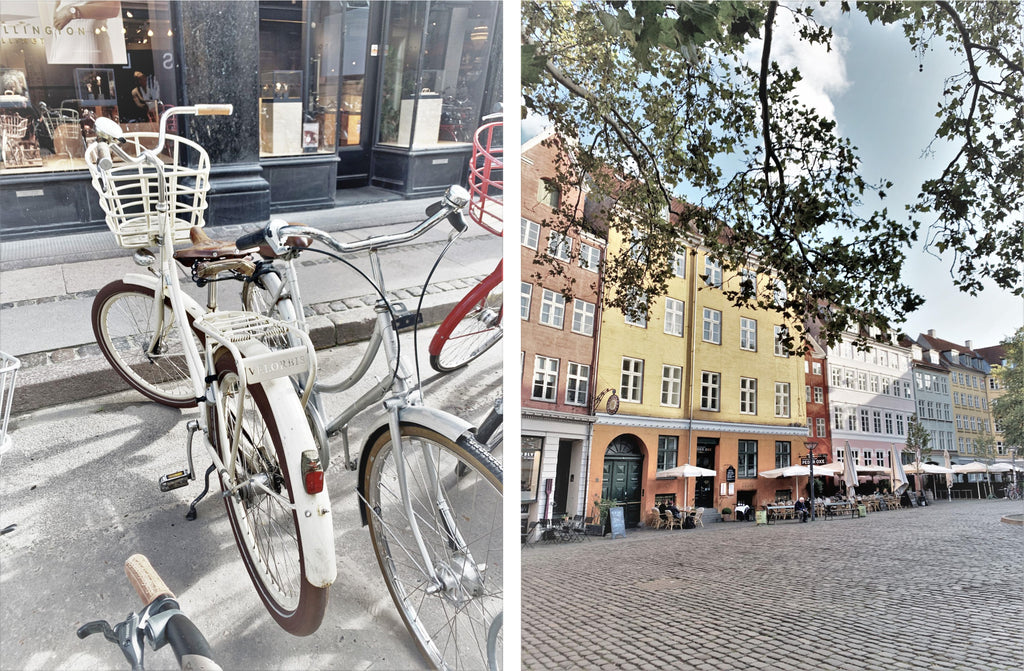 biking and shopping in Copenhagen