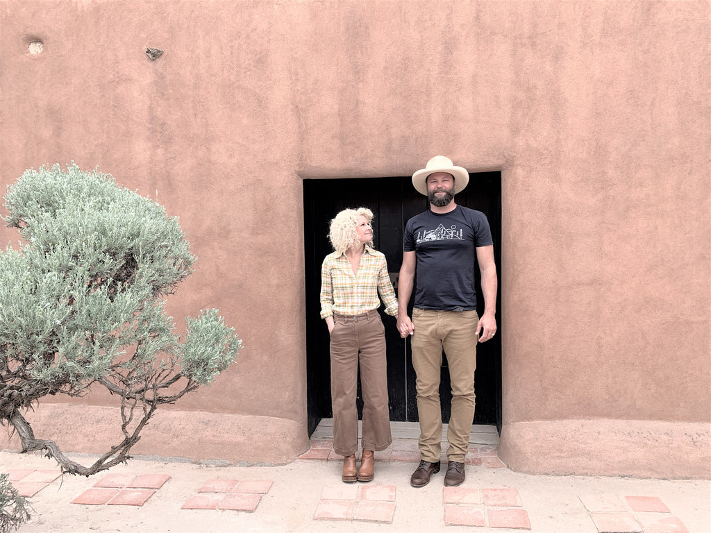 Braden and DeNai Jones at Georgia O'Keefe's home in New Mexico