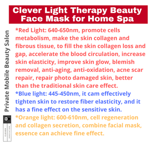 Clever Face Beautifying Home Spa Photon Face Mask Light Therapy Photon Instrument Anti-aging Anti Acne Wrinkle Removal Skin Tighten Beatuy SPA Treatment