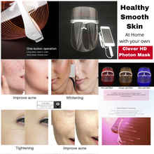 Load image into Gallery viewer, Clever Face Beautifying Home Spa Photon Face Mask Light Therapy Photon Instrument Anti-aging Anti Acne Wrinkle Removal Skin Tighten Beatuy SPA Treatment