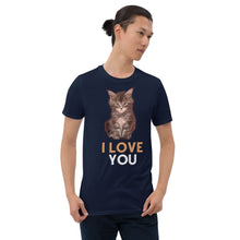 Load image into Gallery viewer, I Love You Cute Kitten Short-Sleeve Unisex T-Shirt