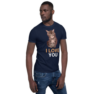 I Love You Cute Kitten Short-Sleeve Unisex T-Shirt