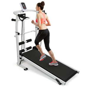 Clever  Home Fitness Treadmill Folding Mechanical Treadmill 3 in 1 Multifunction Silent Steppers Fitness Equipments Accessories HWC