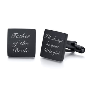 ENGRAVED WEDDING CUFFLINKS WEDDING GIFT SQUARE INITIAL CUFFLINK FOR GENTS CUSTOM CUFFLINKS GIFTS