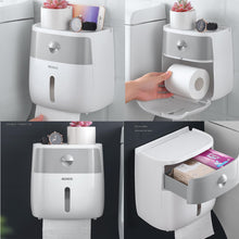 Load image into Gallery viewer, Waterproof Wall Mounted Toilet Roll Holders
