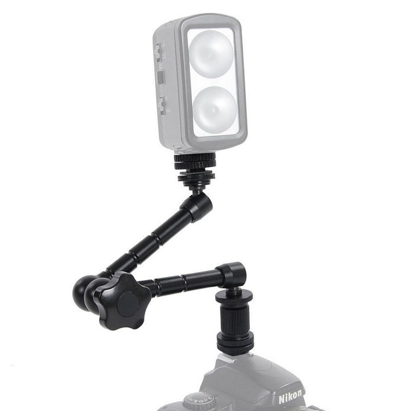 Super Clamp 7/11 inches Adjustable Magic Articulated Arm for Mounting HDMI Monitor LED Light LCD Video Camera Flash Camera DSLR