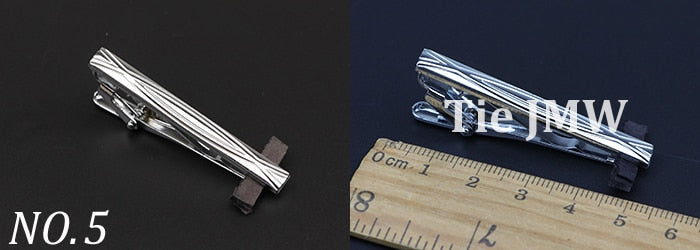 Men's Metal Tie Clip Bright Chrome Stainless Steel Jewelry  Necktie Clips Pin Clasp Clamp Wedding Charm Creative Gifts
