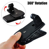 Action Camera Clip For GoPro Hero 8 7 6 5 4 Mount 360 Degree Rotary Clip Backpack Mount For Session 3+ 3 SJCAM SJ4000 Garmin