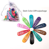 10/20/26/40Pcs Fashion Hair Clips For Women Girls Kawaii Kids Hair Accessories Snap Barrettes Candy Color Hairpins Clip For Hair
