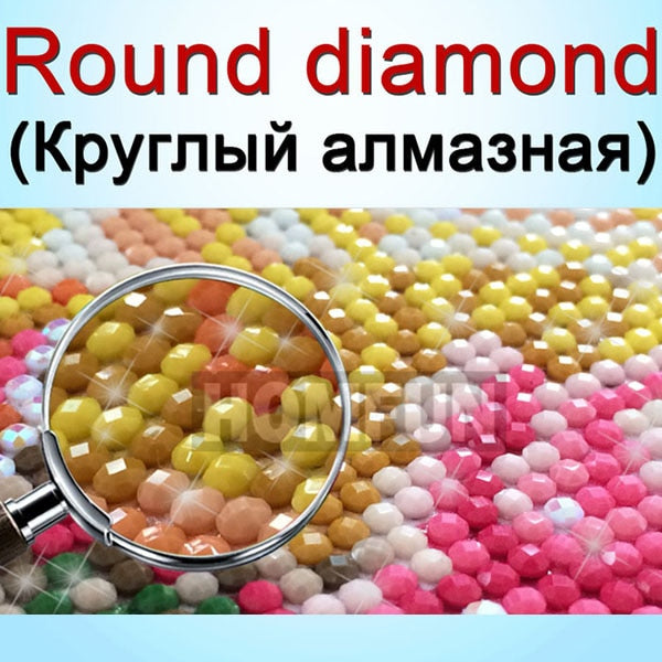 HOMFUN Diamond Painting Photos Custom Square/Round Picture of Rhinestones Diamond Embroidery Baby,Weeding and Parents gift