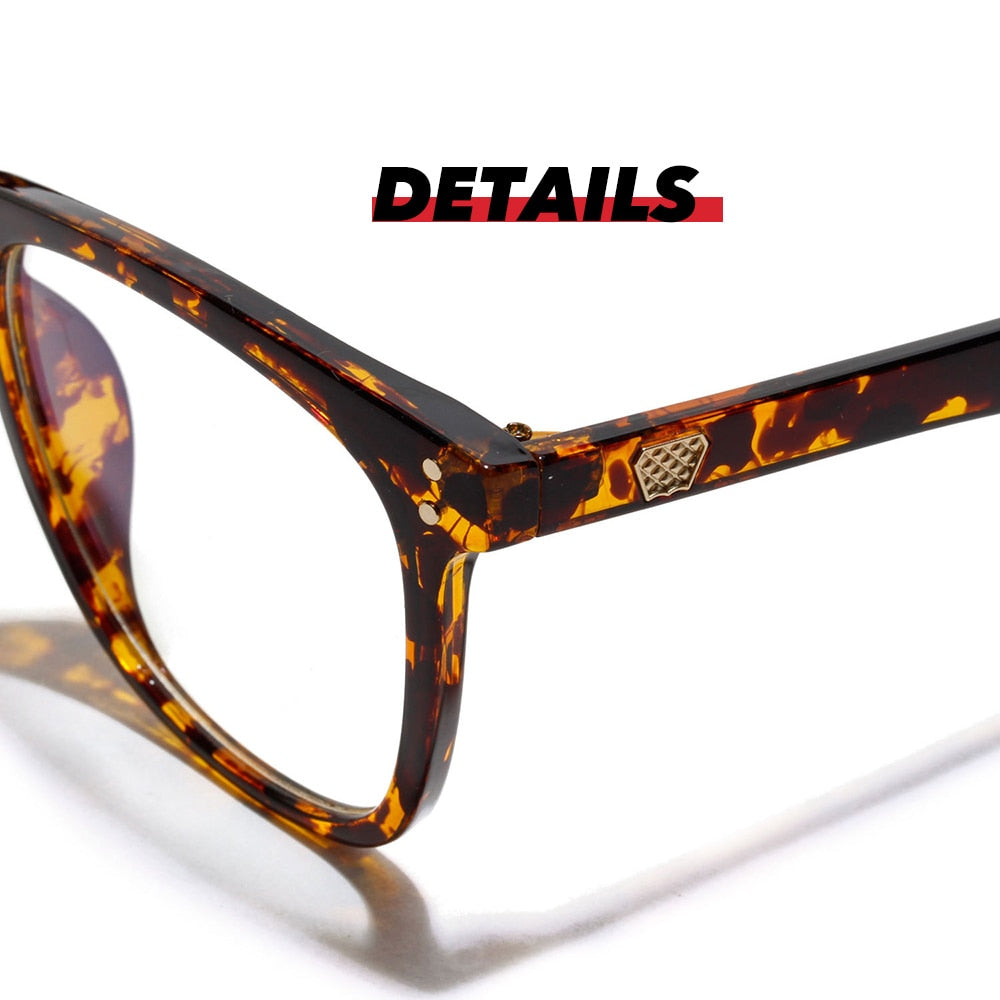 Women Oversized Leopard Anti Blue Ray Light Filter Leopard Glasses for Computer Protection blocking Gaming Men Glasses