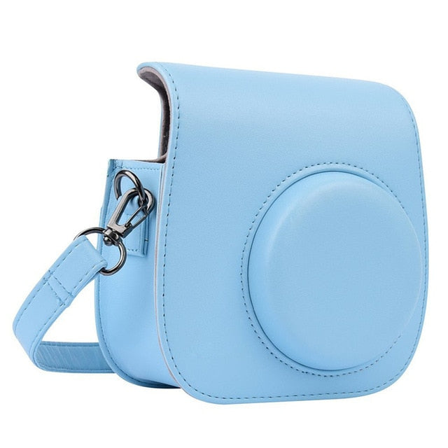 Mini Camera Leather For fujifilm instax mini 9 camera bag PU for Instax  Mini 8 bag Instant Film Cameras case Mini 8+ Cameras